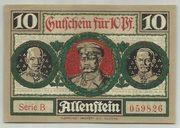 10 Pfennig (Allenstein, Stadt) – revers