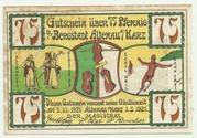 75 Pfennig (Altenau a. Harz, Stadt) – avers