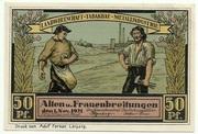 50 Pfennig (Alten- und Frauenbreitungen) – avers