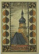 50 Pfennig (Altenburg; Skat Series - Bartholomäikirche) – revers