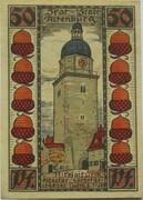 50 Pfennig (Altenburg; Skat Series - Nikolaiturm) – revers