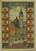 50 Pfennig (Altenburg; Skat Series - Rathaus) – revers