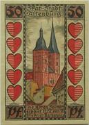 50 Pfennig (Altenburg; Skat Series - Rote Spitzen) – revers