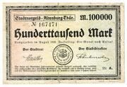 100,000 Mark (Altenburg Thür.) – avers