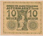 10 Heller (Altenmarkt a. d. Ysper) – avers