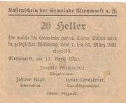 20 Heller (Altenmarkt a. d. Ysper) – revers
