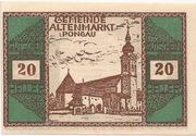 20 Heller (Altenmarkt im Pongau) – avers