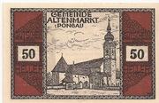50 Heller (Altenmarkt im Pongau) – avers
