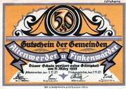 50 Pfennig (Altenwerder and Finkenwerder) – avers