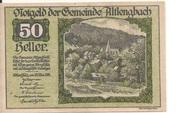 50 Heller (Altlengbach) – avers