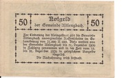 50 Heller (Altlengbach) – revers