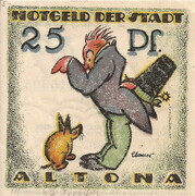 25 Pfennig (Altona ) – revers