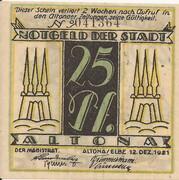 25 Pfennig (Altona ) – avers