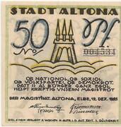50 Pfennig (Altona ) – avers