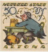 50 Pfennig (Altona ) – revers