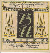 75 Pfennig (Altona ) – avers