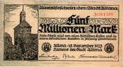 5,000,000 Mark (Altona) – avers