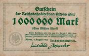 1,000,000 Mark (Altona; Deutsche Reichsbahn) -  avers