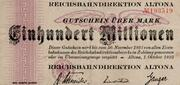 100,000,000 Mark (Reichsbahndirektion) – avers