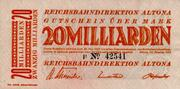 20,000,000,000 Mark (Reichsbahndirektion) – avers