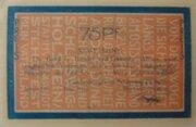 75 Pfennig Altona, Landesbürgerrat – avers