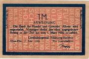1 Mark (Landesbürgerrat Schleswig-Holstein) – avers