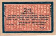 2 Mark (Landesbürgerrat Schleswig-Holstein) – avers