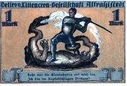 1 Mark (Altrahlstedt; Detlev v. Liliencron Gesellschaft) – avers
