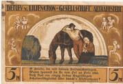 5 Mark (Detlev v. Liliencron Gesellschaft) – avers