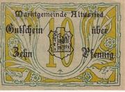 10 Pfennig (Altusried) – avers