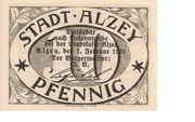 10 Pfennig (Alzey) – avers