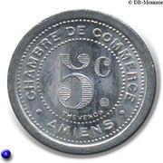 5 Centimes (Chambre de Commerce) - Amiens [80] – revers