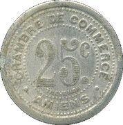 25 centimes - Chambre de Commerce - Amiens [80] – revers