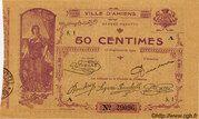 50 centimes - Chambre de Commerce d'Amiens [80] – avers