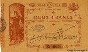 2 francs - Chambre de Commerce d'Amiens [80] -  avers