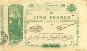 5 francs - Chambre de Commerce d'Amiens [80] – avers