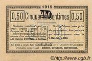 50 centimes - Chambre de Commerce D'Amiens [80] <Timbre sec> – revers