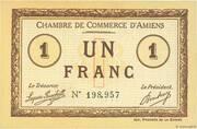 1 franc - Chambre de Commerce D'Amiens [80] – avers