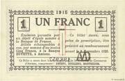 1 franc - Chambre de Commerce D'Amiens [80] – revers