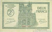 2 francs - Chambre de Commerce D'Amiens [80] – avers