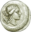Tétradrachme sténaphore d'Amphipolis – avers