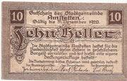 10 Heller (Amstetten) rough Paper – avers