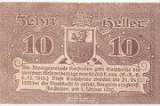 10 Heller (Amstetten) rough Paper – revers