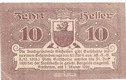 10 Heller (Amstetten) smooth Paper – avers