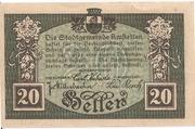 20 Heller (Amstetten) – revers