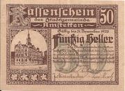50 Heller (Amstetten) – avers