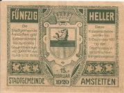 50 Heller (Amstetten) – revers