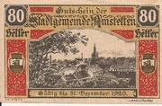 80 Heller (Amstetten) – avers