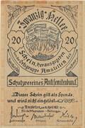 20 Heller (Amstetten, Schutzverein Antisemitenbund) – avers