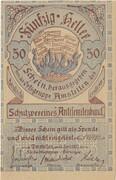 50 Heller (Amstetten, Schutzverein Antisemitenbund) – avers